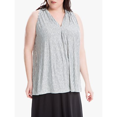 Max Studio + Sleeveless Stripe Jersey Top