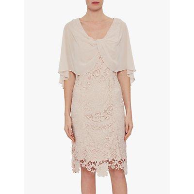 Gina Bacconi Adora Lace & Chiffon Dress, Antique Rose