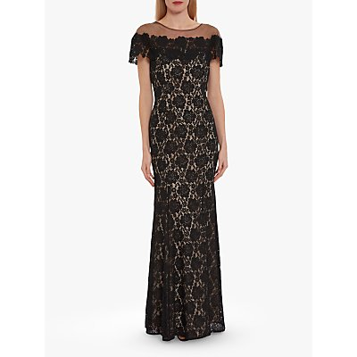 Gina Bacconi Oriole Embroidered Lace Maxi Dress
