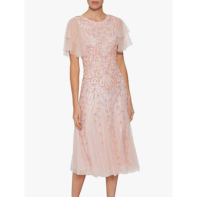 Gina Bacconi Keena Beaded Dress, Pink