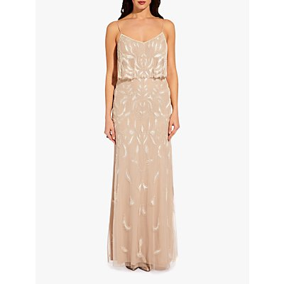 Adrianna Papell Popover Maxi Dress, Biscotti