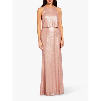 Adrianna Papell Sequin Maxi Dress, Blush