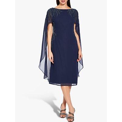 Adrianna Papell Plus Size Beaded Dress, Midnight