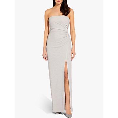Adrianna Papell Foil Jersey Dress, Silver