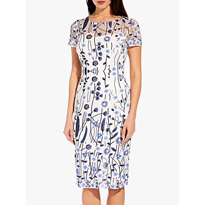 Adrianna Papell Growing Garden Dress, Navy/Multi