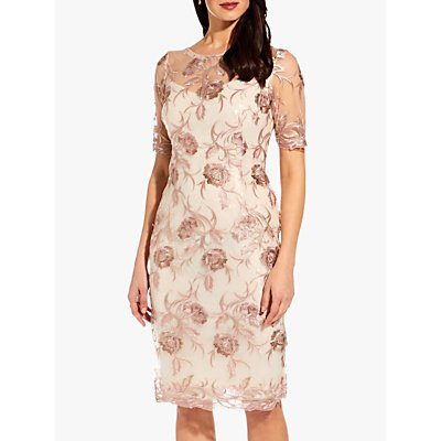 Adrianna Papell Embroidered Short Dress, Quartz