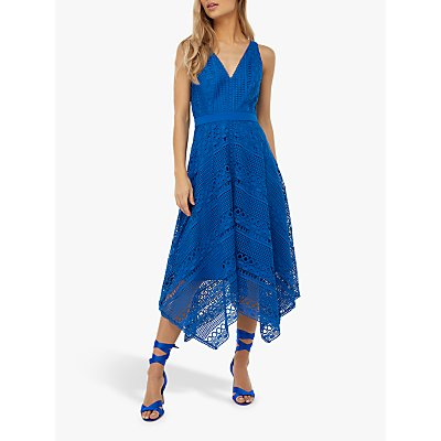 Monsoon Bernadette Handkerchief Hem Midi Dress