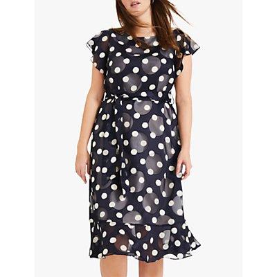 Studio 8 Viviana Spot Midi Dress, Navy