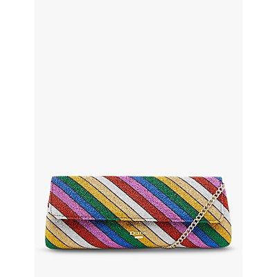 Dune Bainbow Stripe Clutch Bag, Multi