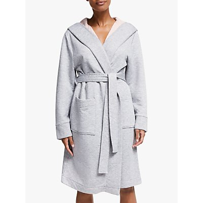 John Lewis & Partners Esme Quilted Hooded Robe, Grey