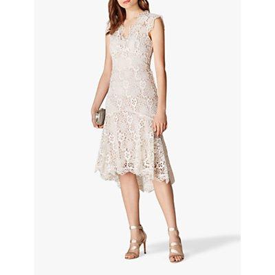 Karen Millen Floral Lace Dress, Neutral