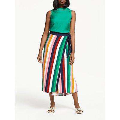 Boden Portia Skirt, Conker Multistripe
