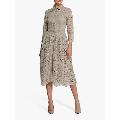 Helen McAlinden Sonia Mink Shirt Dress, Neutral Beige