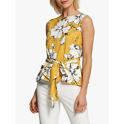 Helen McAlinden Maggie Floral Tie Front Top, Yellow