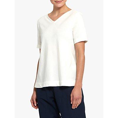 Helen McAlinden Lucia Linen Blend Top, White