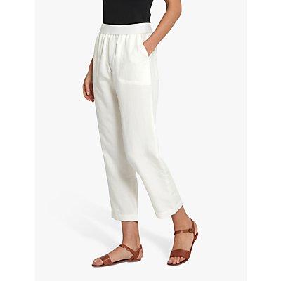 Helen McAlinden Cropped Linen Trousers