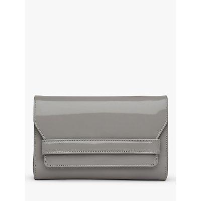 L.K.Bennett Ella Leather Clutch Bag, Grey
