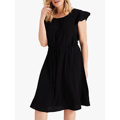 Studio 8 Janine Hanky Hem Dress, Black