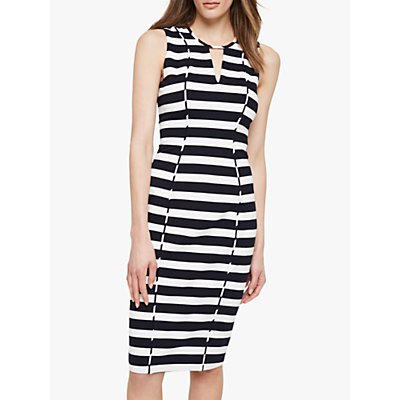 Damsel in a Dress Sade Stripe Dress, Black/Ivory