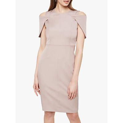 Damsel in a Dress Nicola Cold Shoulder Fitted Dress, Mink