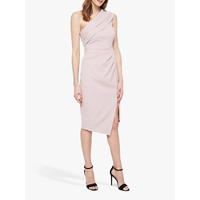Damsel in a Dress Samira One Shoulder Midi Cocktail Dress, Blush