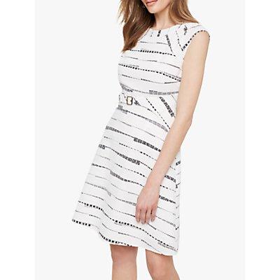 Damsel in a Dress Jemi Belted Dress, Black/White
