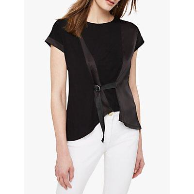 Damsel in a Dress Franca Woven Jersey Top, Black