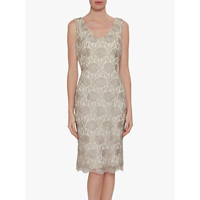 Gina Bacconi Brienna Embroidered Dress, Butter Cream