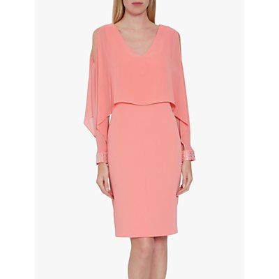 Gina Bacconi Karen Dress With Chiffon Cape