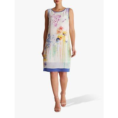 Fenn Wright Manson Kyoto Abstract Print Silk Dress, Ivory/Multi