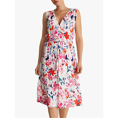 Fenn Wright Manson Myrtle Floral Dress, Bright Pink/Multi