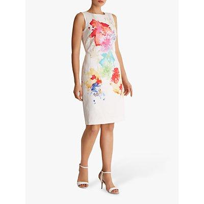 Fenn Wright Manson Ilya Abstract Floral Tailored Dress, Ivory/Multi