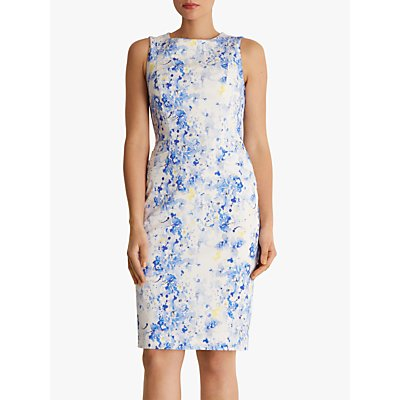 Fenn Wright Manson Cornflower Pencil Dress, Ivory/Multi
