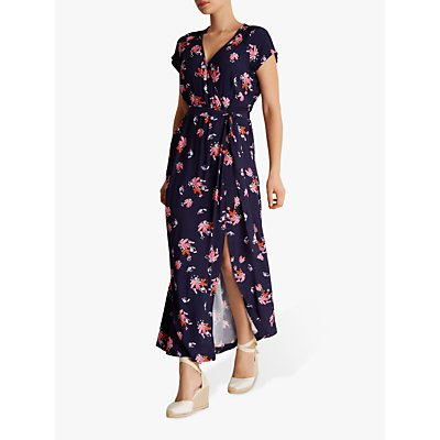 Fenn Wright Manson Palmetto Floral Wrap Dress, Navy