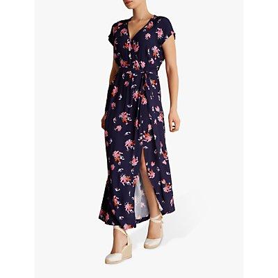 Fenn Wright Manson Palmetto Floral Wrap Dress, Navy