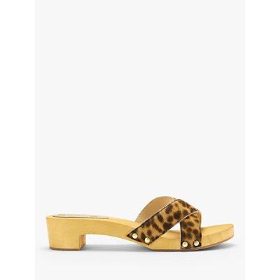Boden Orella Clog Sandals, Tan Leopard