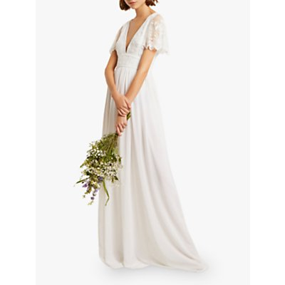 French Connection Emelina Embellished Dress, Linen White