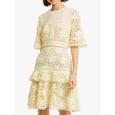French Connection Calli Lace Dress, Lemon