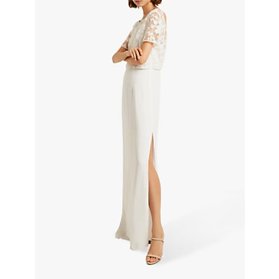French Connection Isla Embellished Dress, Summer White