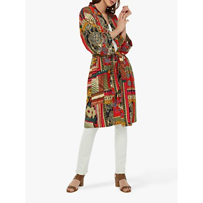 Monsoon Zeeba Print Kimono, Red