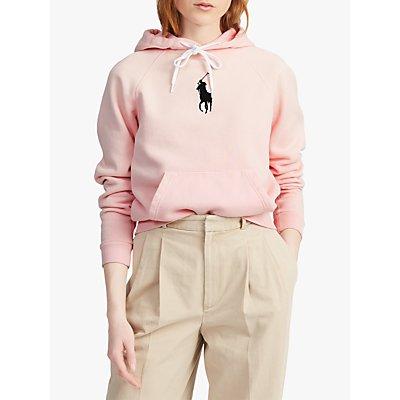 Polo Ralph Lauren Big Pony Fleece Hoodie, Pink Sand