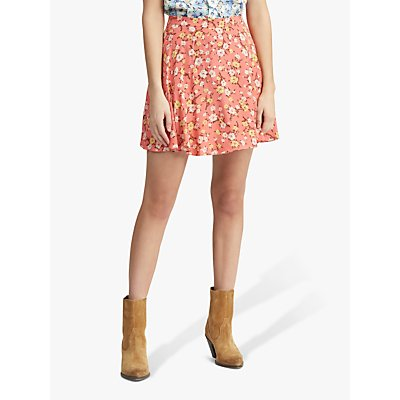 Polo Ralph Lauren Floral Print Skirt, Blush