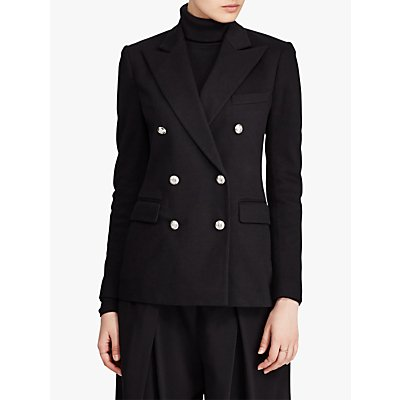 Polo Ralph Lauren Double Breasted Jersey Blazer, Polo Black