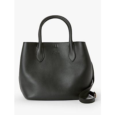 Polo Ralph Lauren Leather Open Tote Bag, Black