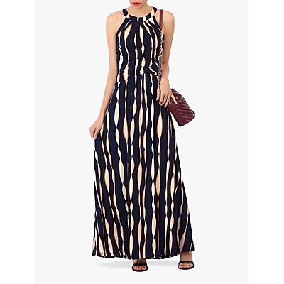 Jolie Moi Abstract Print Halter Neck Maxi Dress, Navy/Multi