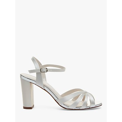 Rainbow Club Blake Block Heel Sandals, Ivory Satin