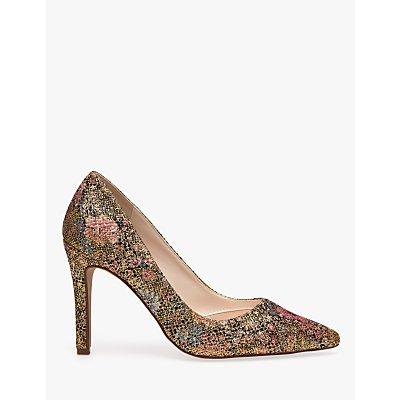 Rainbow Club Coco Glitter Bomb Stiletto Heel Court Shoes, Multi