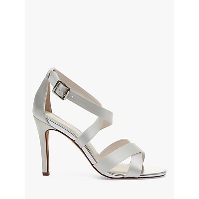 Rainbow Club Reese Stiletto Heel Sandals, Ivory Satin