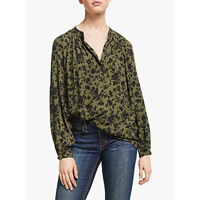 AND/OR Liberty Marakesh Floral Blouse, Khaki/Black