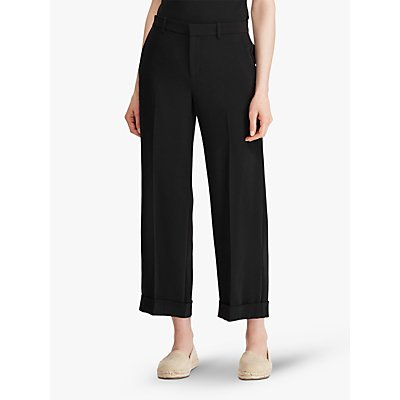 Lauren Ralph Lauren Larabeth Wide Leg Trousers, Black